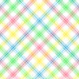 Tela escocesa en colores pastel de la raya Foto de archivo