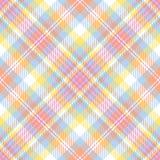 Tela escocesa en colores pastel de la raya Imágenes de archivo libres de regalías