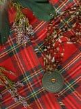 Tela escocesa escocesa roja. Foto de archivo libre de regalías