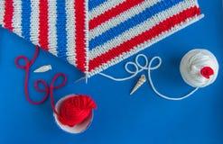 Tela escocesa hecha punto para el bebé Imagen de archivo libre de regalías