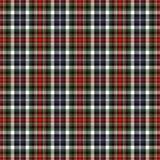 Tela escocesa negra y roja Fotos de archivo libres de regalías
