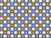 Tela escocesa retra del azul de la flor Foto de archivo libre de regalías