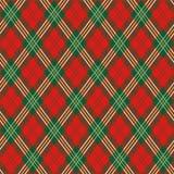 Tela escocesa roja Foto de archivo