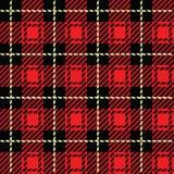 Tela escocesa roja Imagen de archivo