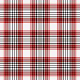 Tela escocesa roja, blanca, y negra inconsútil Foto de archivo libre de regalías