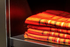 Tela escocesa roja a cuadros Foto de archivo