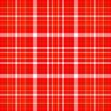 Tela escocesa roja y blanca Ilustración del Vector