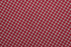 Tela escocesa roja y blanca Imagen de archivo libre de regalías