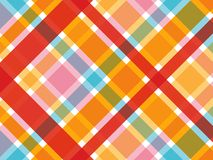 Tela escocesa roja y rosada del caramelo Imagen de archivo libre de regalías