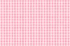 Tela escocesa rosada Fotos de archivo