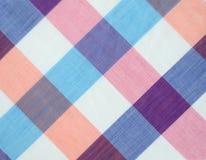 Tela escocesa rosada Foto de archivo libre de regalías