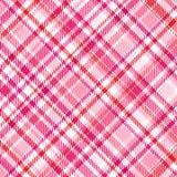 Tela escocesa rosada Fotos de archivo libres de regalías