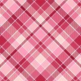 Tela escocesa rosada Foto de archivo
