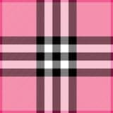 Tela escocesa rosada Imagenes de archivo