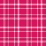 Tela escocesa rosada Imagen de archivo