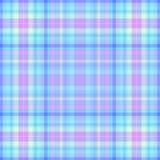 Tela escocesa rosada y azul Stock de ilustración