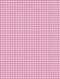 Tela escocesa rosada y blanca Imagen de archivo libre de regalías