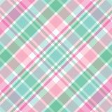 Tela escocesa rosada y verde Fotografía de archivo libre de regalías