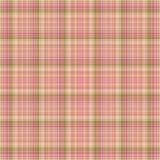 Tela escocesa rosada y verde inconsútil Imagen de archivo libre de regalías