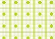 Tela escocesa verde Imágenes de archivo libres de regalías