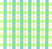 Tela escocesa verde de la guinga Imagen de archivo libre de regalías
