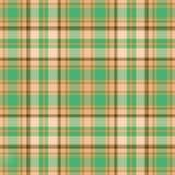 Tela escocesa verde del oro Fotografía de archivo