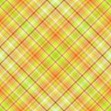 Tela escocesa verde y anaranjada Stock de ilustración