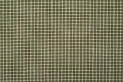 Tela escocesa verde y blanca Foto de archivo libre de regalías