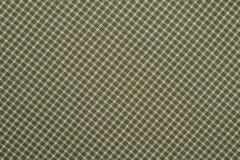 Tela escocesa verde y blanca Imagen de archivo libre de regalías