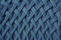 Tela feita malha textura Fotografia de Stock Royalty Free