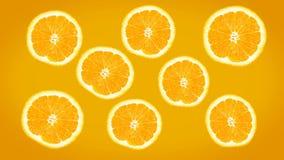 Tela feliz das laranjas ilustração do vetor