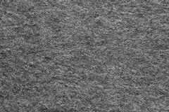Tela felpudo macia da textura da cor preta Fotografia de Stock Royalty Free