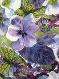 Tela floral Foto de archivo libre de regalías