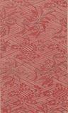 Tela floral roja de la vendimia Foto de archivo libre de regalías