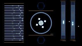 Tela futurista da relação digital com programa informático de corrida animation Aplicação de sistema de funcionamento abstra ilustração do vetor