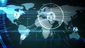 Tela global em linha da comunidade ilustração stock