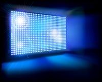 Tela grande do diodo emissor de luz Ilustração do vetor Fotos de Stock Royalty Free