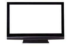 Tela grande do pasma HDTV isolada Fotografia de Stock Royalty Free