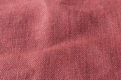 Tela grezza marrone-rosso Immagini Stock