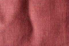 Tela grezza marrone-rosso Fotografie Stock