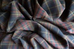 Tela grossa emaranhada da manta em cores deprimidos Imagem de Stock Royalty Free