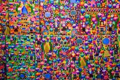 Tela guatemalteca colorida Imagen de archivo libre de regalías
