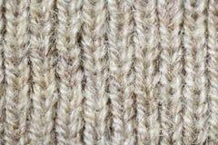 Tela hecha punto de lana Foto de archivo libre de regalías
