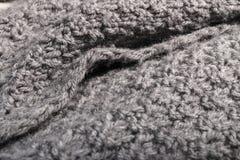 Tela hecha punto de las lanas, fondo de la materia textil Foto de archivo