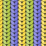 Tela hecha punto Imitación de hacer punto grueso Modelo inconsútil bajo la forma de zigzag ilustración del vector