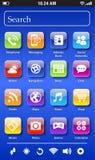 Tela imaginária de Smartphone Imagem de Stock