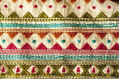 Tela indiana tradicional Fotografia de Stock Royalty Free