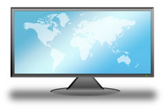 Tela lisa da tevê LCD (11) fotografia de stock