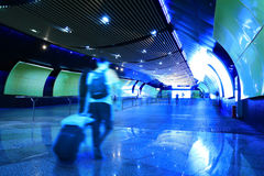 Tela luminescente do corredor da estação do metro Foto de Stock