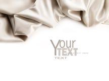 Tela luxuoso do cetim no branco Imagem de Stock Royalty Free